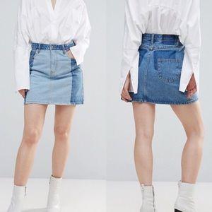 ASOS | Twiin Levels Two Tone Denim Mini Skirt